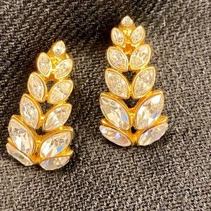 Crystal and gold fancy earrings